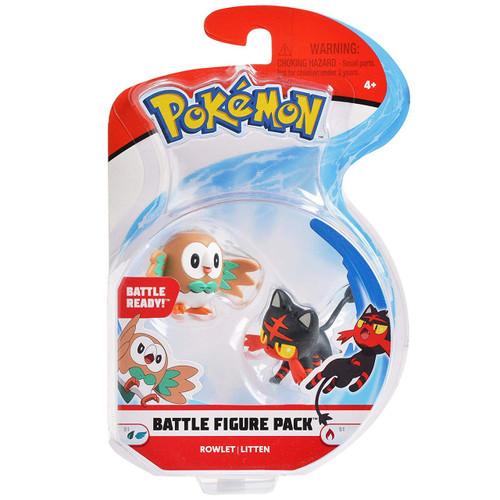 Pokemon Series 1 Battle Figure Rowlet & Litten 2-Inch Mini Figure 2-Pack