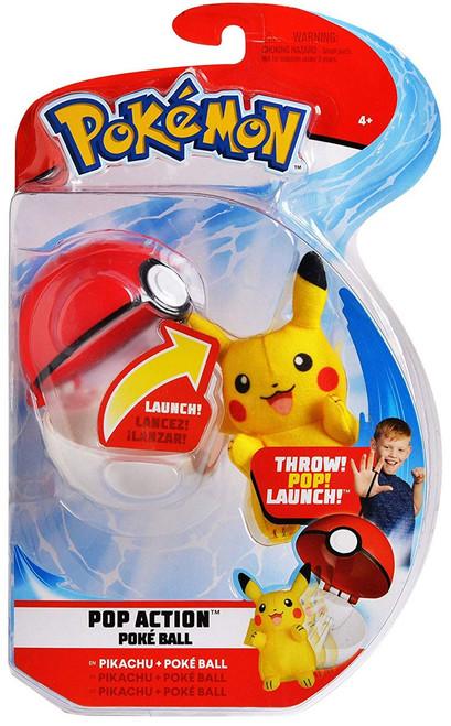 Pokemon Pop Action Poke Ball Pikachu & Poke Ball Throw Poke Ball Plush