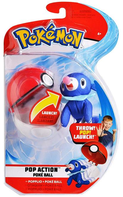 Pokemon Pop Action Poke Ball Popplio & Poke Ball Throw Poke Ball Plush