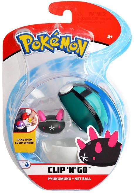 Pokemon Clip 'N' Go Pyukumuku & Net Ball Figure Set