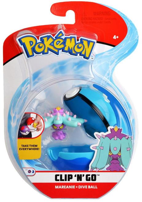 Pokemon Clip 'N' Go Mareanie & Dive Ball Figure Set