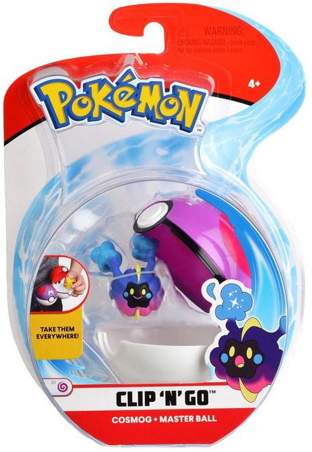Pokemon Clip 'N' Go Cosmog & Master Ball Figure Set