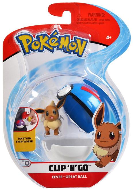 Pokemon Clip 'N' Go Eevee & Great Ball Figure Set