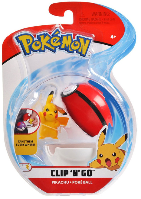 Pokemon Clip 'N' Go Pikachu & Poke Ball Figure Set