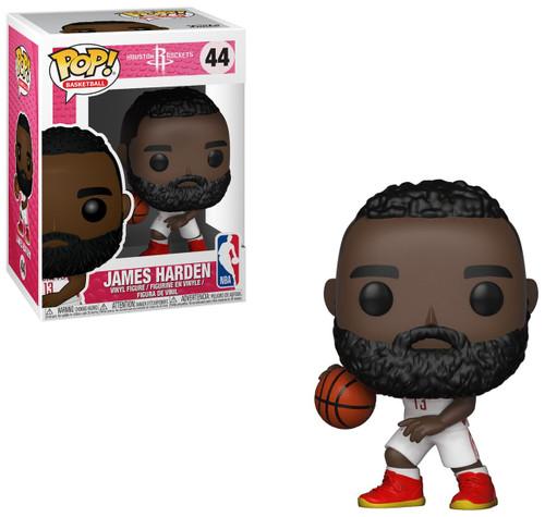 Funko NBA Houston Rockets POP! Basketball James Harden Vinyl Figure #44 [White Uniform]