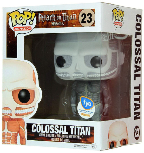 Funko Attack on Titan POP! Animation Colossal Titan Exclusive 6-Inch Vinyl Figure [Super-Sized, Black & White, Damaged Package]