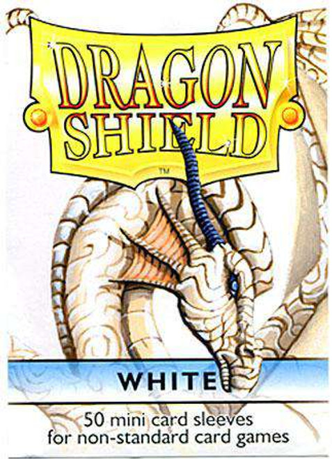 Card Supplies Dragon Shield White Small Card Sleeves [50 Count]