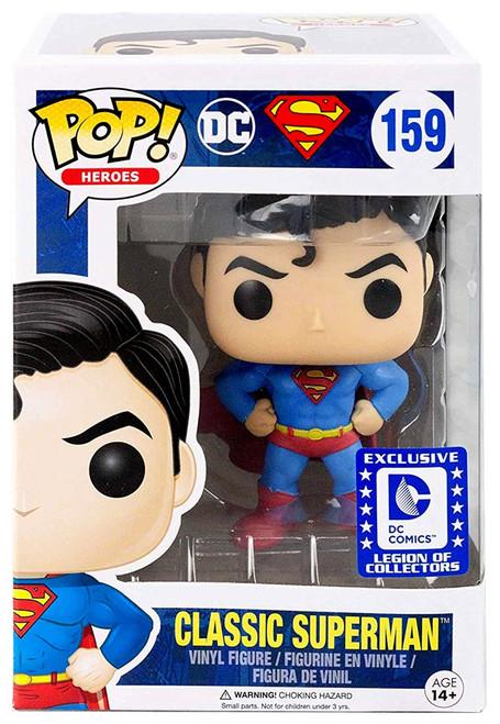 Funko DC POP! Heroes Classic Superman Exclusive Vinyl Figure #159