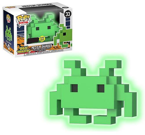 Funko Space Invaders POP! 8-Bit Medium Invader Exclusive Vinyl Figure #33 [Green, Glow-in-the-Dark]