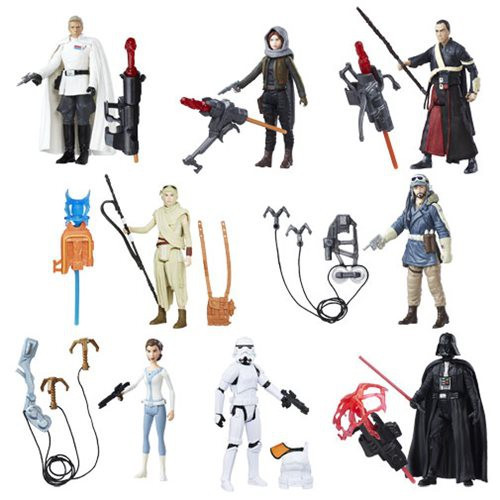 Star Wars The Force Awakens Erso, Rey, Vader, Leia, Imwe, Cassian, Stormtrooper & Krennic Set of 8 Action Figures