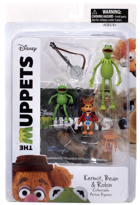 The Muppets Kermit, Robin & Bean Bunny Action Figure