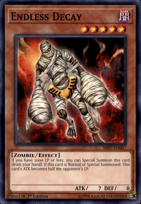 YuGiOh Structure Deck: Zombie Horde Common Endless Decay SR07-EN007