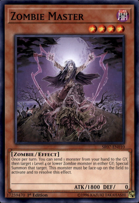 YuGiOh Structure Deck: Zombie Horde Common Zombie Master SR07-EN010