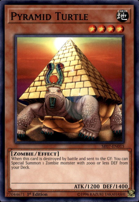 YuGiOh Structure Deck: Zombie Horde Common Pyramid Turtle SR07-EN015