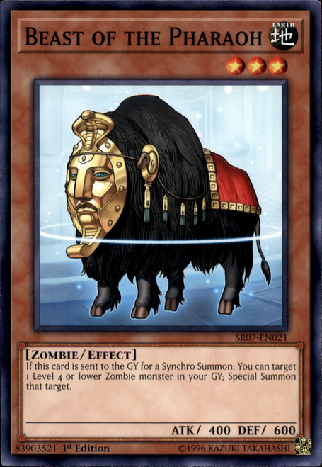 YuGiOh Structure Deck: Zombie Horde Common Beast of the Pharaoh SR07-EN021