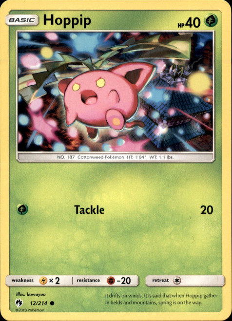 Pokemon Trading Card Game Lost Thunder Common Hoppip #12