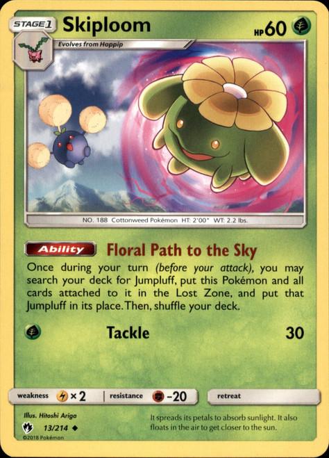 Pokemon Trading Card Game Lost Thunder Uncommon Skiploom #13