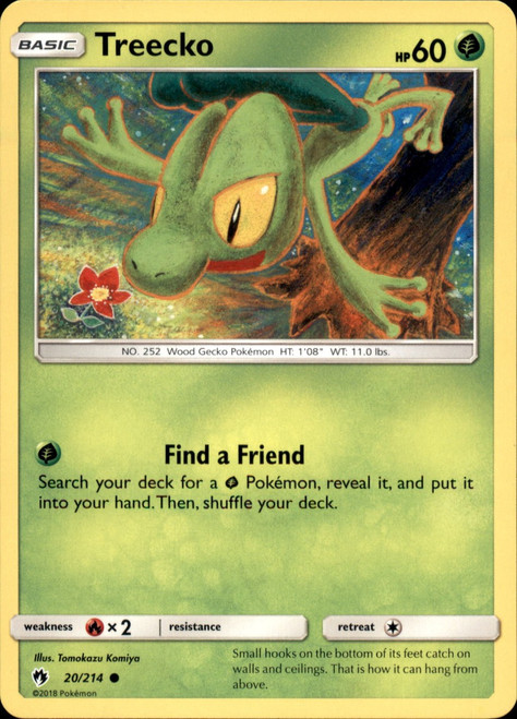Pokemon Trading Card Game Lost Thunder Common Treecko #20