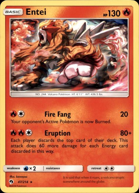 Pokemon Trading Card Game Lost Thunder Rare Entei #47