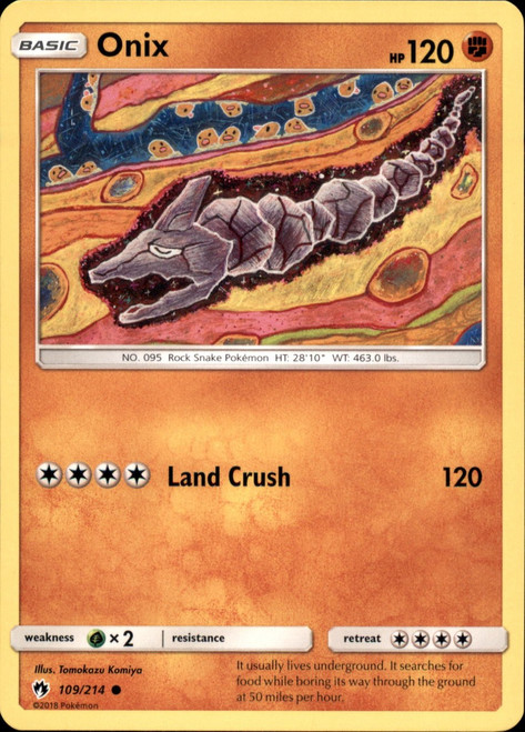 Pokemon Trading Card Game Lost Thunder Common Onix #109
