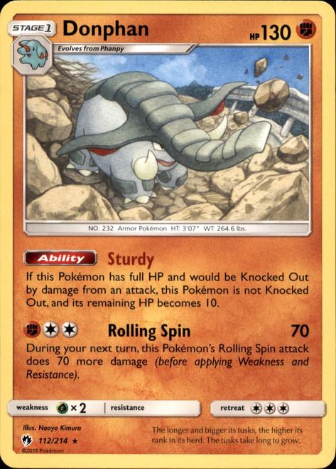Pokemon Trading Card Game Lost Thunder Rare Donphan #112