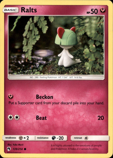 Pokemon Trading Card Game Lost Thunder Common Ralts #139
