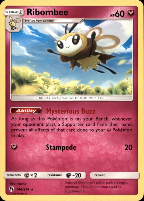 Pokemon Trading Card Game Lost Thunder Rare Ribombee #146