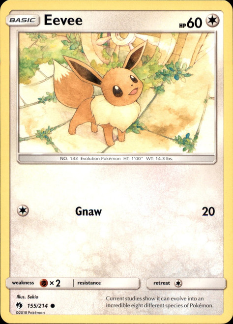 Pokemon Trading Card Game Lost Thunder Common Eevee #155