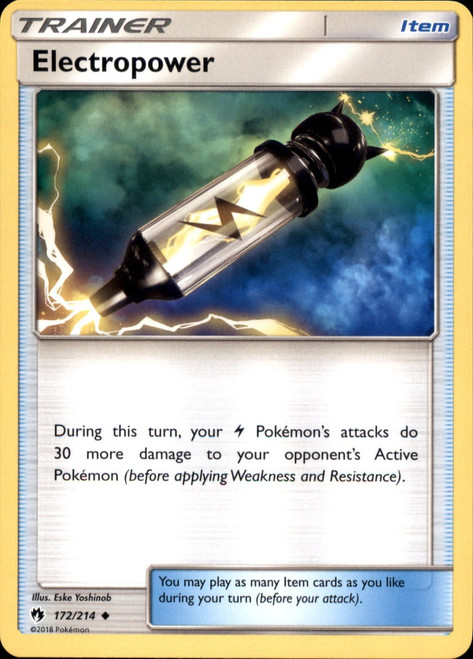 Pokemon Trading Card Game Lost Thunder Uncommon Electropower #172