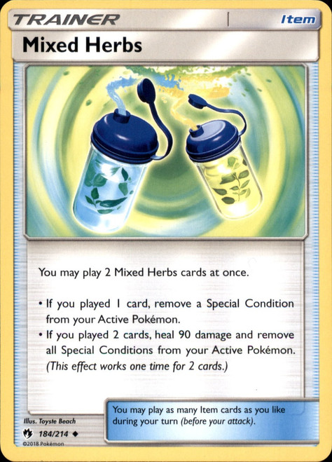 Pokemon Trading Card Game Lost Thunder Uncommon Mixed Herbs #184