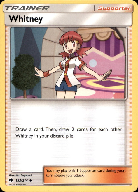 Pokemon Trading Card Game Lost Thunder Uncommon Whitney #193
