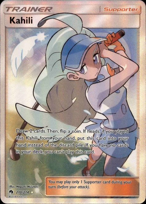 Pokemon Trading Card Game Lost Thunder Ultra Rare Full Art Kahili #210