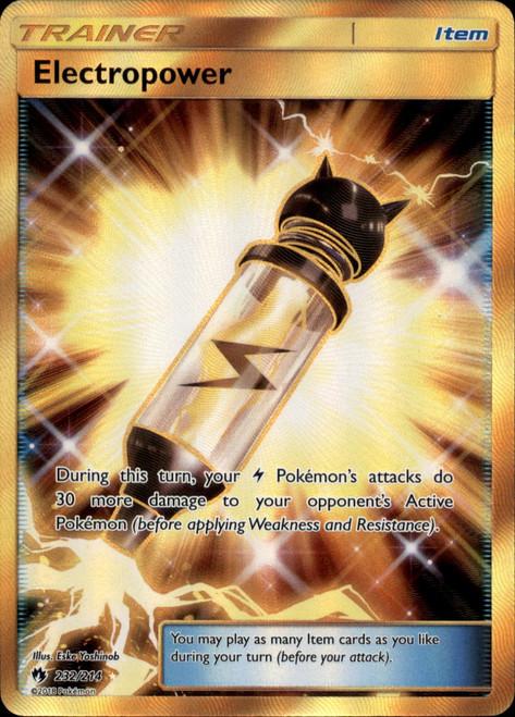 Pokemon Trading Card Game Lost Thunder Secret Rare Electropower #232