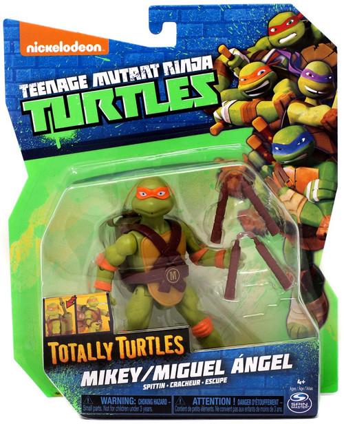 Teenage Mutant Ninja Turtles Nickelodeon Totally Turtles Mikey Action Figure [Spittin]