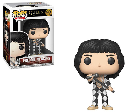 Funko Queen POP! Rocks Freddie Mercury Vinyl Figure #92 [Checkered Outfit]