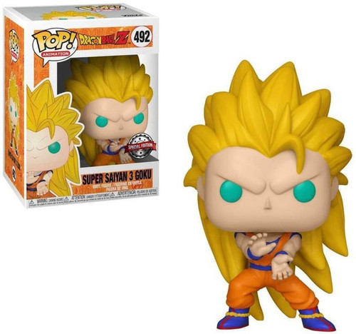 Funko Dragon Ball Z POP! Animation Super Saiyan 3 Goku Exclusive Vinyl Figure #492