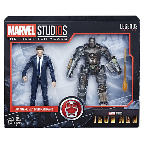 Marvel Studios: The First Ten Years Marvel Legends Tony Stark /// Iron Man Mark I Exclusive Action Figure 2-Pack