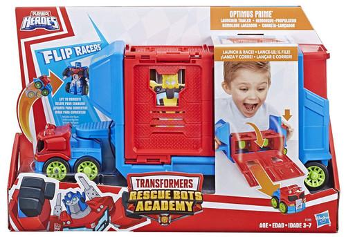 Transformers Playskool Heroes Rescue Bots Flip Racer Trailer Playset