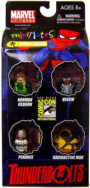 Marvel Minimates Thunderbolts Exclusive Mini Figure 4-Pack [Norman Osborn, Venom, Penance & Radioactive Man]