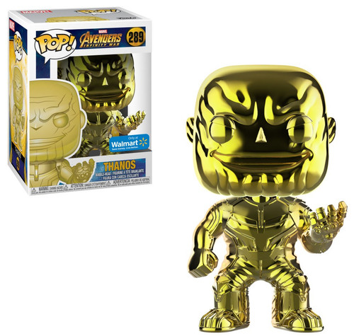 Funko Marvel Universe Avengers Infinity War POP! Marvel Thanos Exclusive Vinyl Figure #289 [Gold Chrome]
