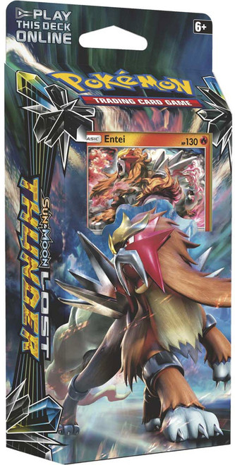 Pokemon Trading Card Game Sun & Moon Lost Thunder Blazing Volcano Theme Deck [Entei]