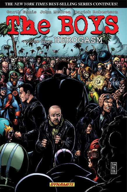 Dynamite Entertainment The Boys Herogasm Trade Paperback Comic Book Vol. 5 [Autographed by Garth Ennis]