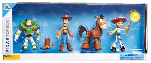 Disney Toy Story Toybox Buzz Lightyear, Woody, Jessie & Bullseye Exclusive Action Figure 4-Pack