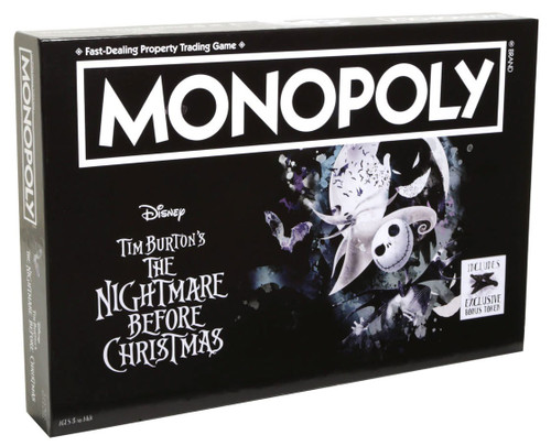 Monopoly Nightmare Before Christmas Exclusive Board Game [Bonus Token]