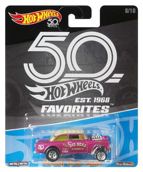 Hot Wheels 50th Anniversary Favorites '55 Chevy Bel Air Gasser Diecast Car #8/10
