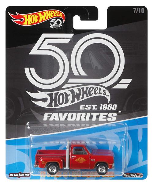 Hot Wheels 50th Anniversary Favorites '78 Dodge Li'l Red Express Truck Diecast Car #7/10