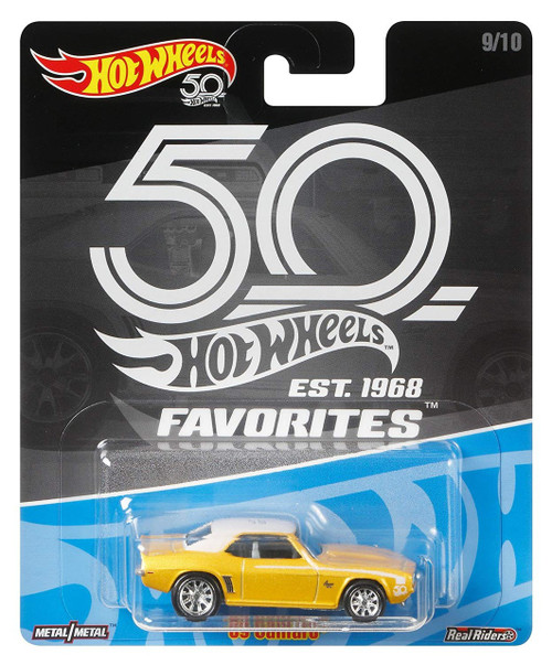 Hot Wheels 50th Anniversary Favorites '69 Camero Diecast Car #9/10