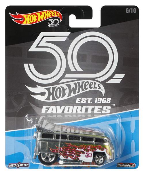 Hot Wheels 50th Anniversary Favorites Volkswagon T1 Drag Bus Diecast Car #6/10