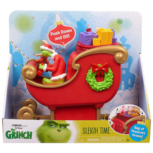 Dr. Seuss The Grinch Sleigh Time 6-Inch Playset