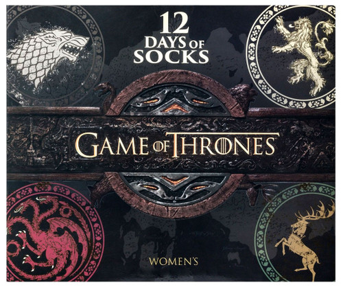Game of Thrones Womens 12 Days of Socks 12-Pack [Shoe Size 4 - 10]